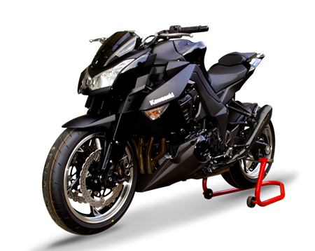 Picture of DUAL SILENCER HYDROFORM BLACK KAWASAKI Z 1000/SX 10-17 Rev.1