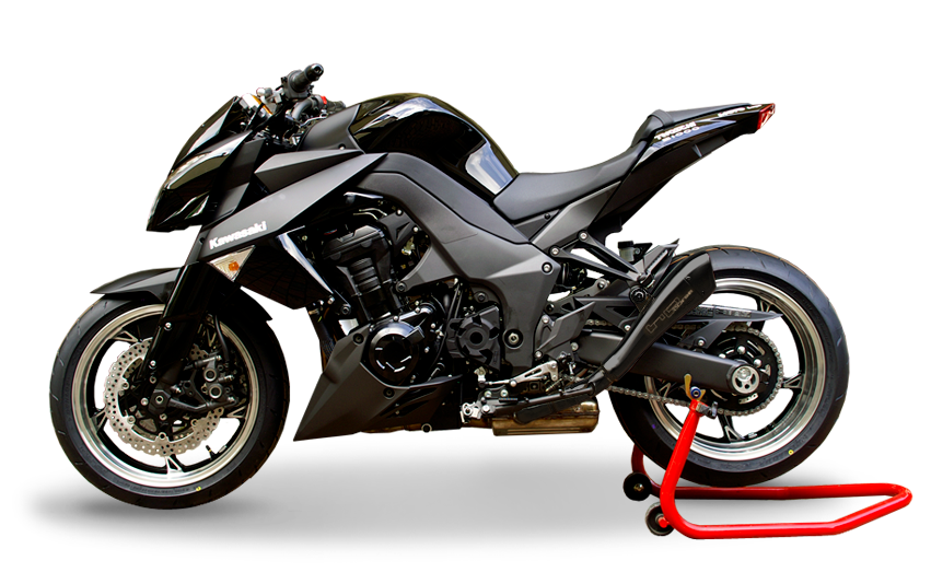 hp corse dual silencer hydroform black kawasaki z 1000 sx. Black Bedroom Furniture Sets. Home Design Ideas