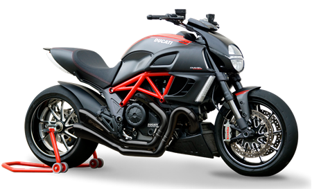 Immagine di TERMINALE HYDROFORM BLACK RACE DUCATI DIAVEL Rev.1a
