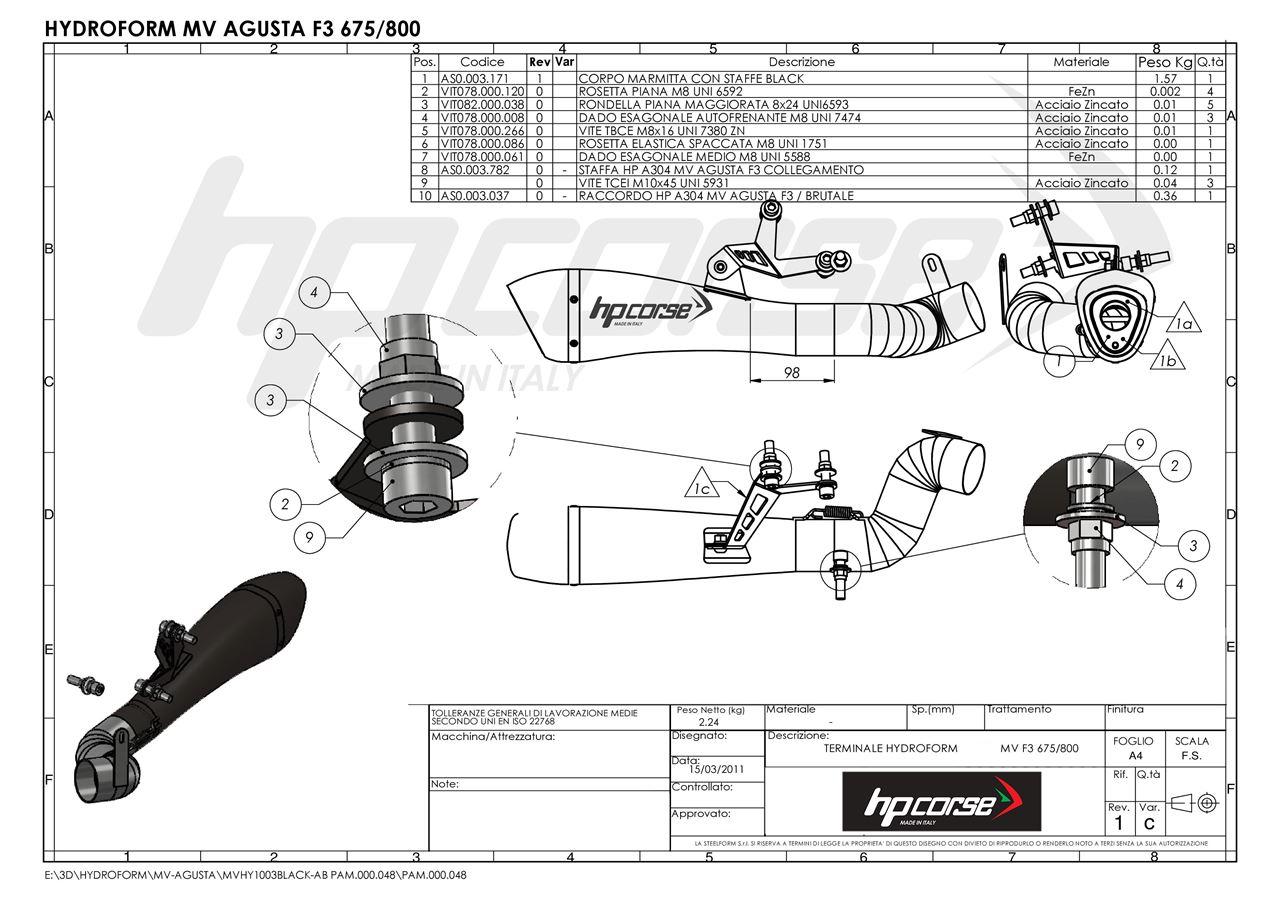 hp corse  term hydroform dx basso a304 sat mv agusta f3