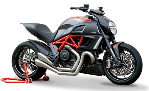Picture of DUAL SILENCER HYDROFORM SATIN RACE DUCATI DIAVEL