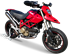 Picture of SILENCER EVOXTREME 310 A304 SATIN DUCATI HYPERMOTARD 1100 LOW POSITION