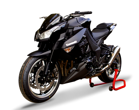 Picture of DUAL SILENCER HYDROFORM SATIN KAWASAKI Z 1000/SX 10-17 Rev.0