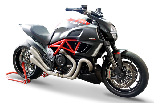 Picture of DUAL SILENCER HYDROFORM SATIN DUCATI DIAVEL