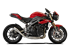 Picture of TERMINALE HYDROFORM DX A304 SATINATO TRIUMPH SPEED TRIPLE 16-17 RACING