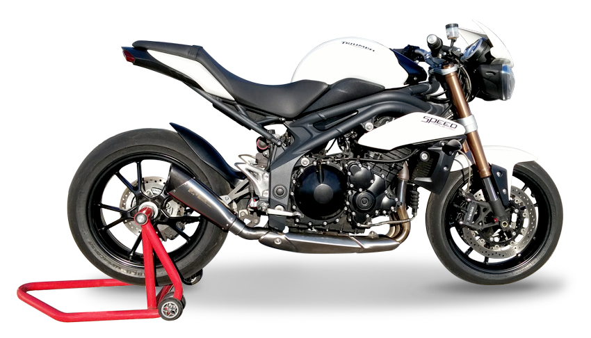 Picture of SILENCER EVO 310 A304 SATIN TRIUMPH SPEED TRIPLE 11-14 LOW POSITION