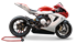 Picture of SILENCER HYDROFORM DX LOW POS BLACK MV AGUSTA F3 675-800/BRUTALE