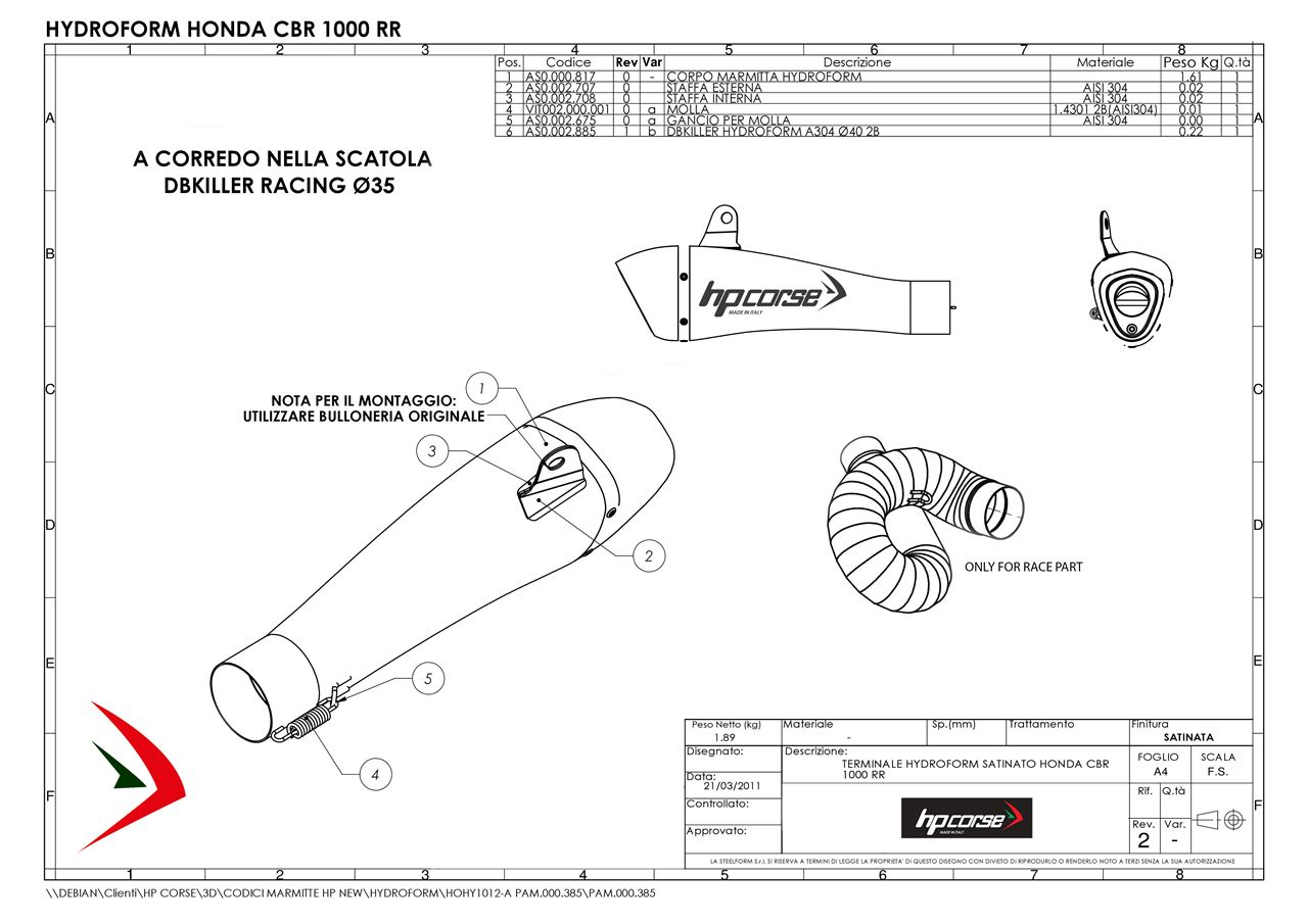 Picture of silencer HYDROFORM SATIN HONDA CBR 1000 RR Rev.2