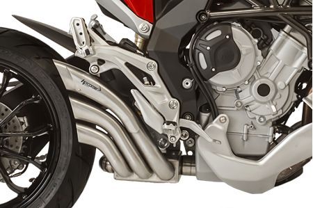 Picture of SILENCER HYDRO TRE CP A304 SATIN MV AGUSTA TURISM VEL/STRAD