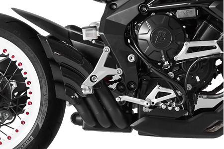 Picture of SILENCER HYDRO TRE CG A304 BLACK MV AGUSTA BRUTALE/DRAGSTER