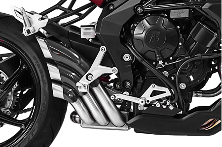 Picture of SILENCER HYDRO TRE CG A304 SATIN MV AGUSTA DRAGSTER 800/RR