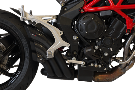 Picture of SILENCER HYDRO TRE CG A304 BLACK MV AGUSTA BRUTALE 2016 EXT-U
