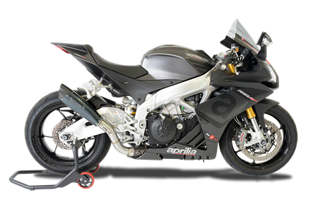 Picture of TERMINALE EVOXTREME 310 DX A304 BLACK APRILIA RSV4 2015-16 RACE
