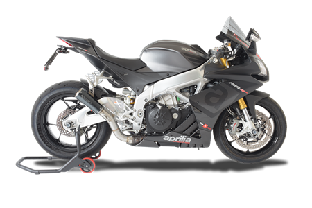 Picture of TERMINALE DX A304 BLACK CON RETE APRILIA RSV4 2015 2016 (ONLY FOR RACE)