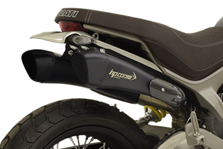 Picture of TERMINALE DOPPIO HYDROFORM-SHORT NEW ALTO NERO DUC. SCRAMBLER 1100 RACE