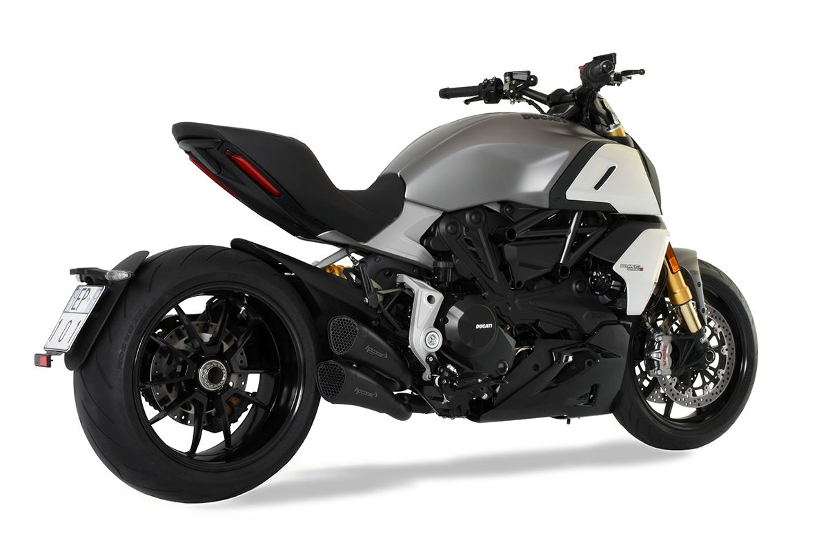 Immagine di TERMINALE DOPPIO HYDROFORM SHORT R BLACK DUCATI DIAVEL 1260 RACING