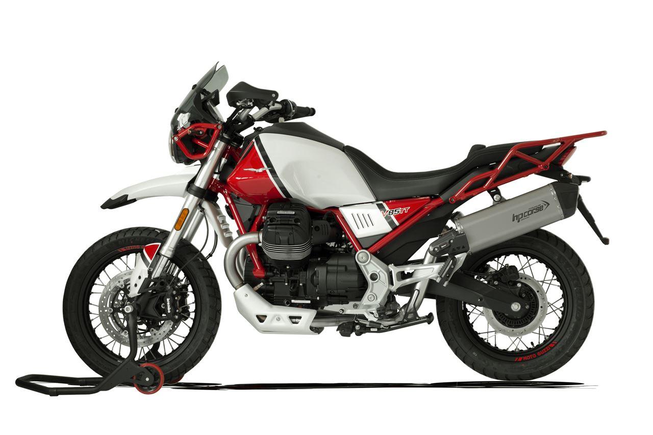 Immagine di TERMINALE SPS CARBON SX TITANIO MOTO GUZZI V85 TT EURO-4
